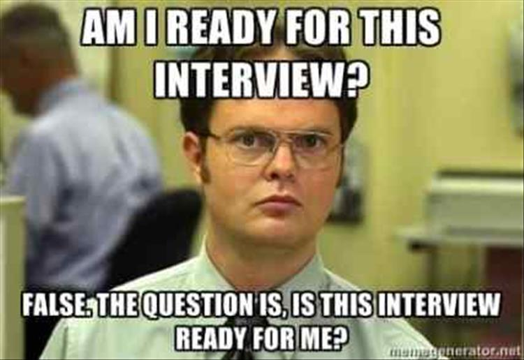 Image result for job interview meme