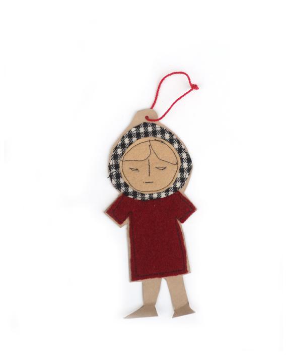 boekenlegger meisje- rood jurkje