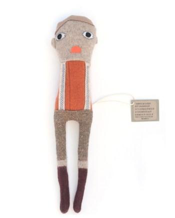 Skinny boy tweed broekje