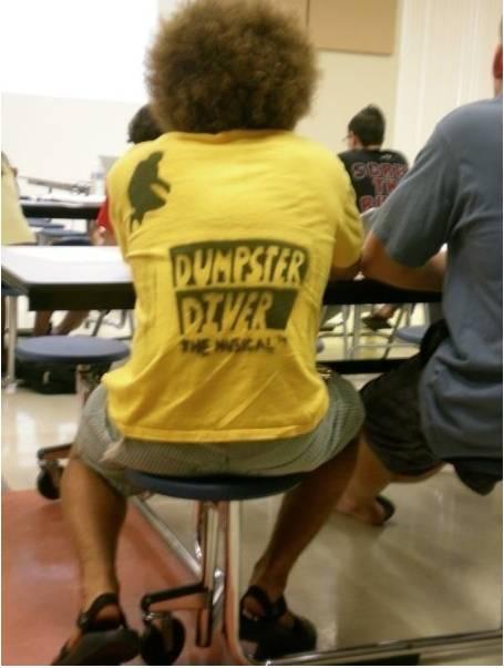 Dumpster Diver the musical t-shirt