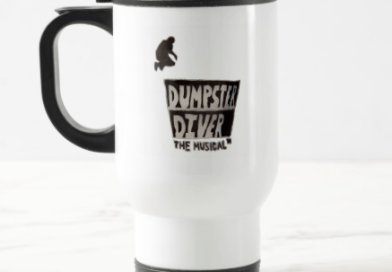 Dumpster Diver the Musical beverage container