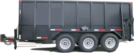 Dumpster Rental Detroit Rubber Wheeled Dumspter