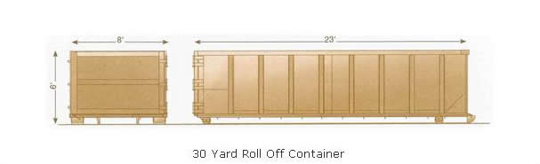 Waterford 30 yard roll off dumpster