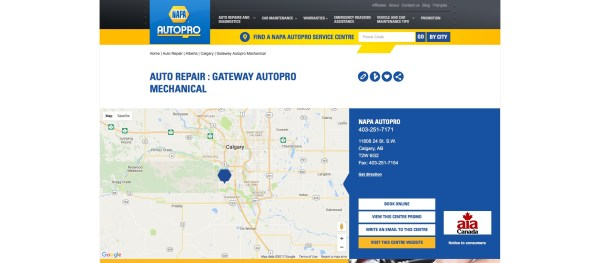 Gateway Autopro Calgary car parts and service