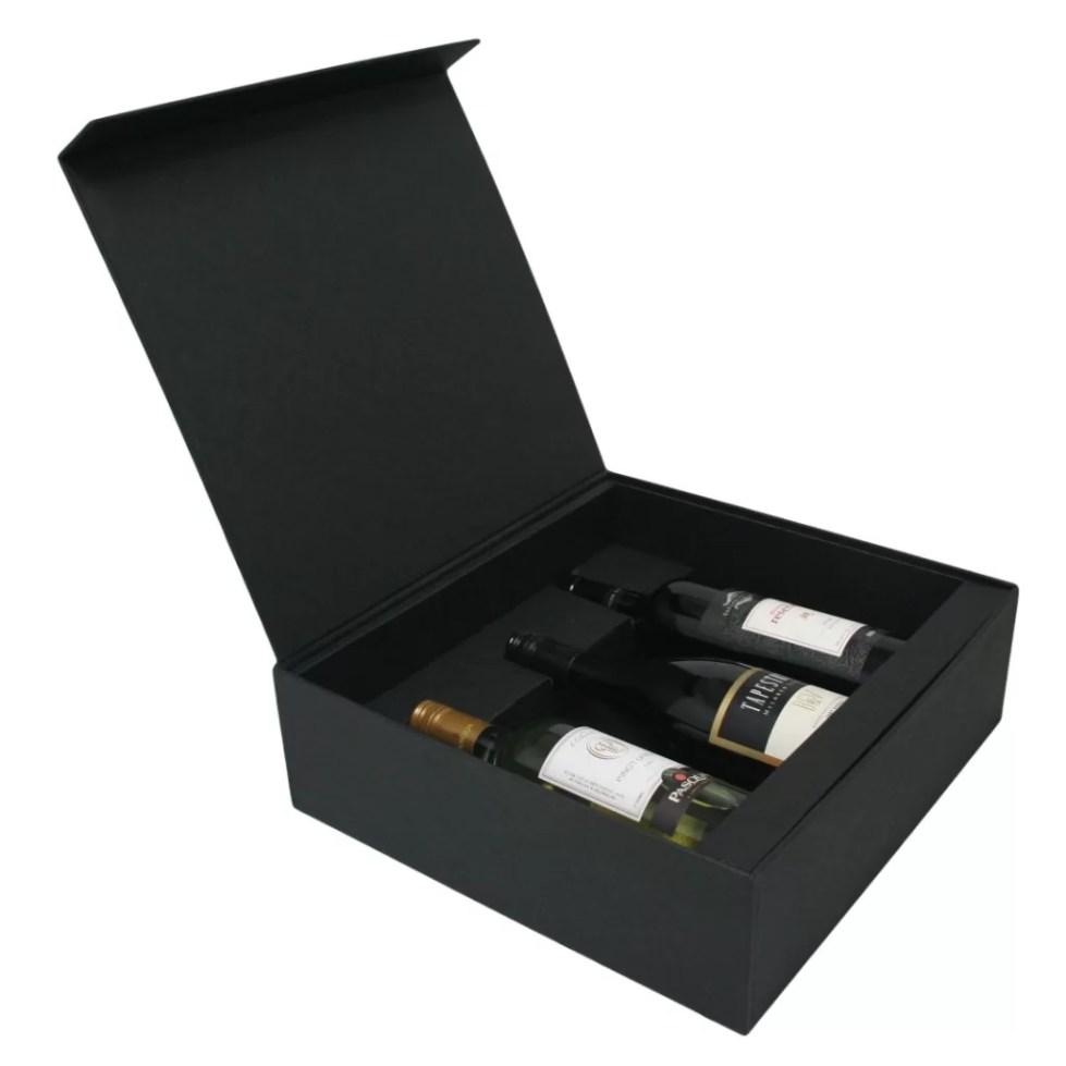 3 Bottle Wine Hinged Presentation Box - Duncan Packaging