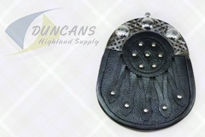 Economy Leather Hunting Sporran with Cantle