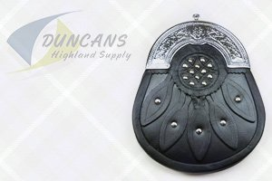 Economy Leather Hunting Sporran with Solid Cantle