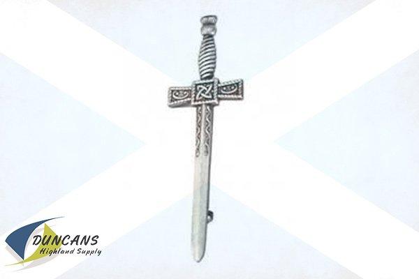 Sword Kilt Pin - Square Ancient