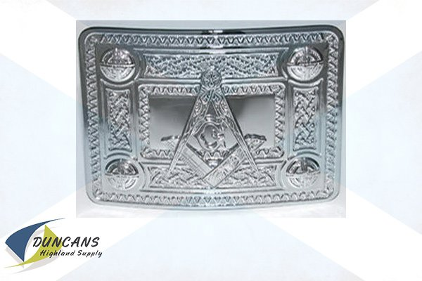 Masonic Celtic Knot Buckle - Chrome