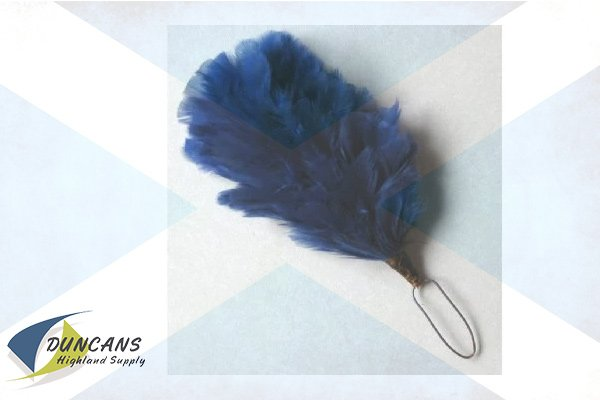 4 Inch Blue Hackle