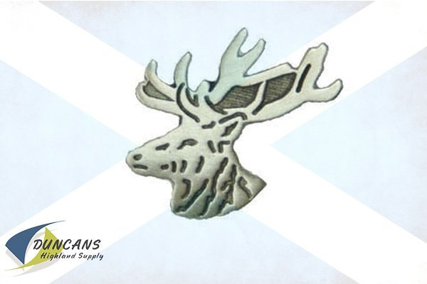 Stag's Head Lapel Pin