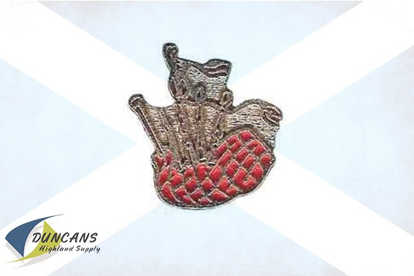 Bagpipes Painted Lapel Pin