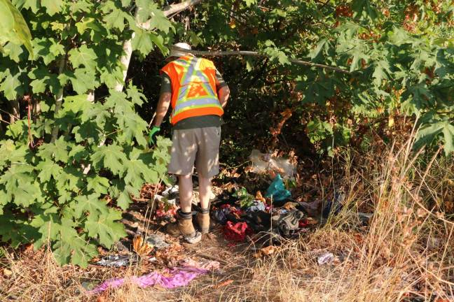 A site on Cowichan Tribes land patrolled regularly by the Warmland Sharps Disposal Team (photo by DuncanTaxpayers.ca)