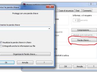 Winrar password archivio