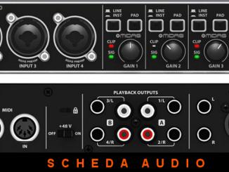 Scheda audio behringer umc404hd