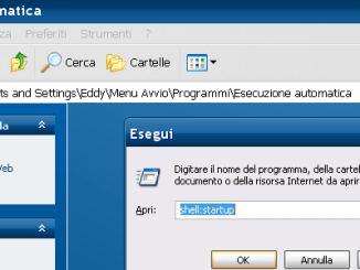 Esecuzione automatica windows xp 7 8 seven
