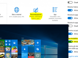 Come impostare lo start a schermo intero in windows 10