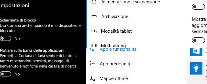 Disattiva la pubblicità e suggerimenti in windows 10