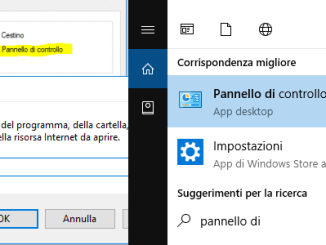 Diversi modi per aprire panello di controllo in windows 10