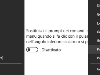 Sostituire prompt dei comandi con windows powershell in windows 10