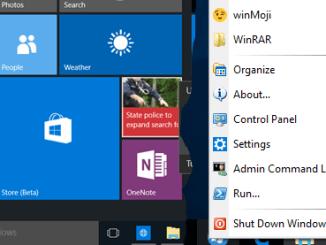 Ripristinare menu start di windows xp in windows 8 e 10
