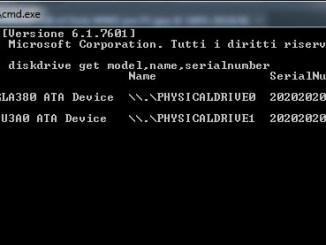 Windows 10 come trovare il numero di serie di un hard disk