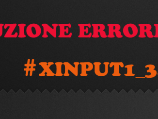 Xinput1 3 non è presente nel computer