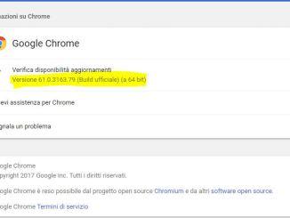 Google ha rilasciato chrome 61