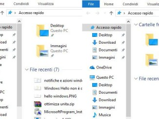 Cancellare i file recenti dall accesso rapido