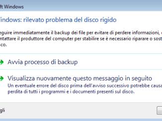 Windows rilevato problemi del disco rigido