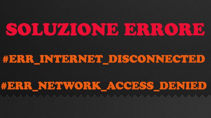 Err network access denied chrome google