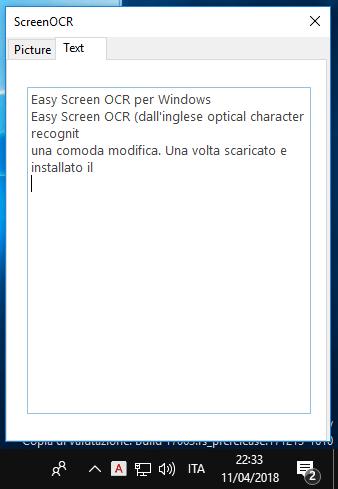 Estrai il testo da un'immagine con Easy Screen OCR per
