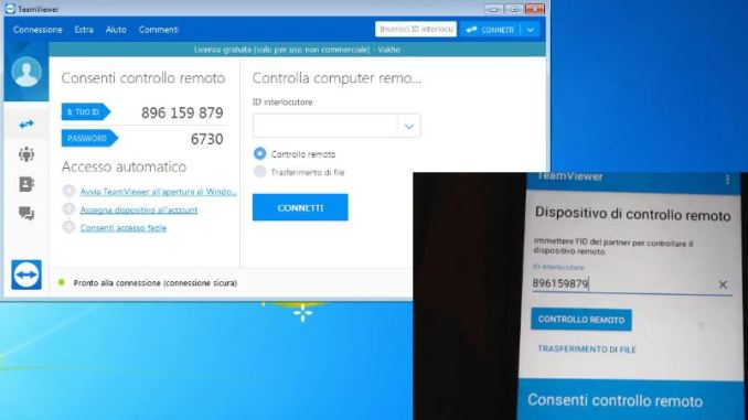 Guida teamviewer computer cellulare