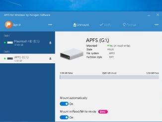 Aprire unita con il formato apfs in windows 10