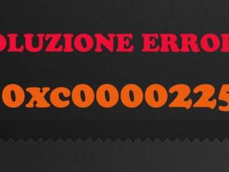 Errore 0xc0000225