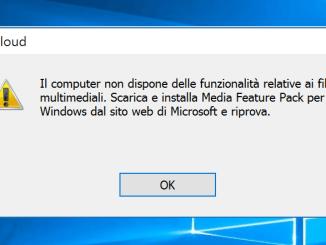 Non riesco ad installare icloud su windows 10