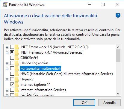 Non riesco a scaricare net framework