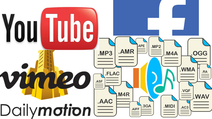 Convertire video youtube facebook vimeo in mp3
