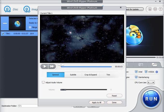 Winx dvd ripper modificare video