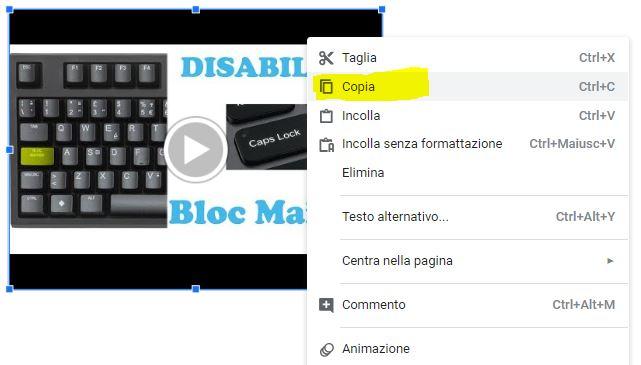 Come importare un video in google documenti