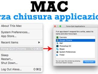 Come chiudere forzatamente un app in macos che non risponde