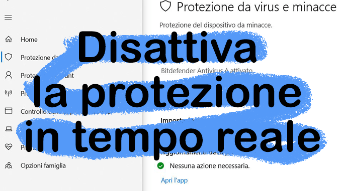 Come disabilitare la protezione in tempo reale di windows defender