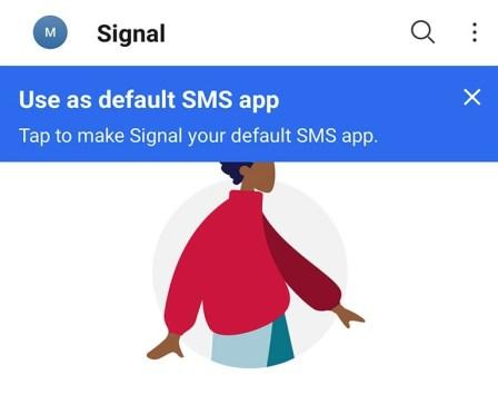 Impostare signal come app predefinita per linvio di sms