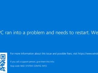 Ecco come risolvere errore bad system config info su windows 10