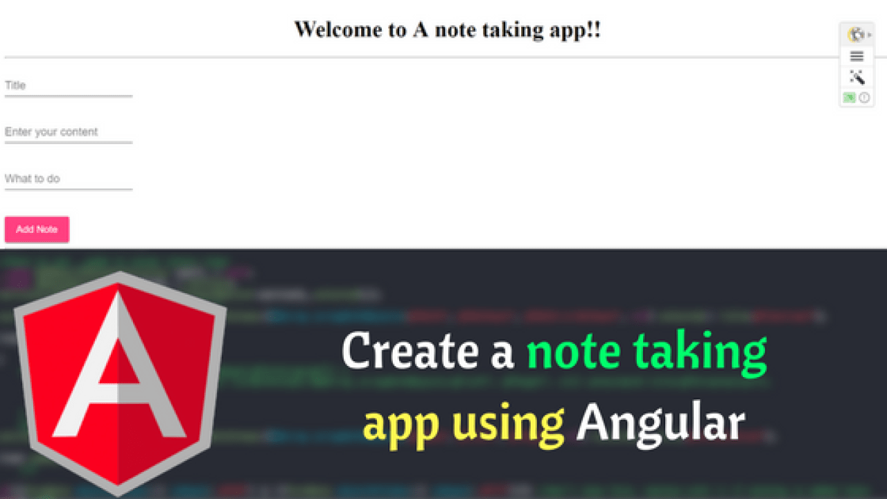 Create a Note Taking App using Angular | Dunebook