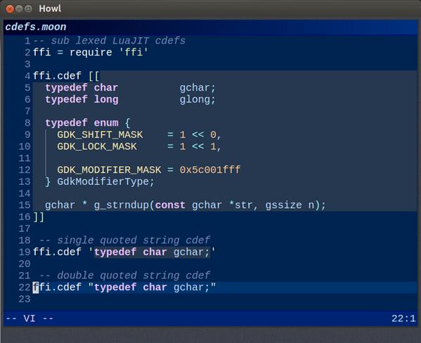 howl mac text editor
