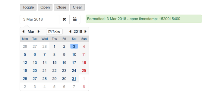 Angular datepicker