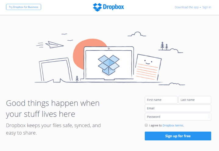 React example dropbox