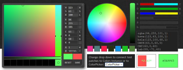 best Js color picker