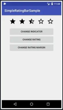 Simple RatingBar Widget